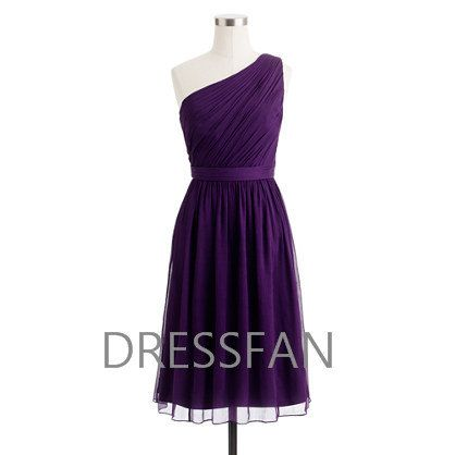 Bridesmaid dress/knee-length/full-length/one-shoulder/wedding/party/homecoming on Etsy, $59.00
