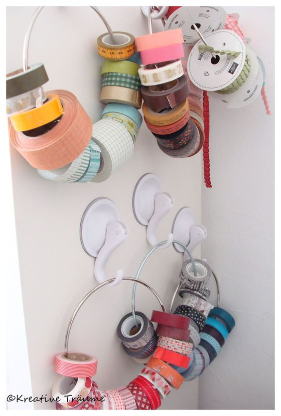 #papercraft #crafting supply #organization: How to store your washi tape