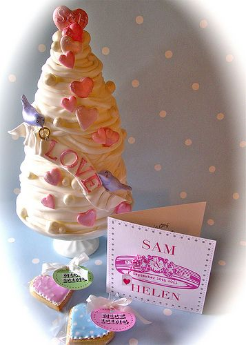 Sam & Helen's engagement cake by nice icing, via Flickr
