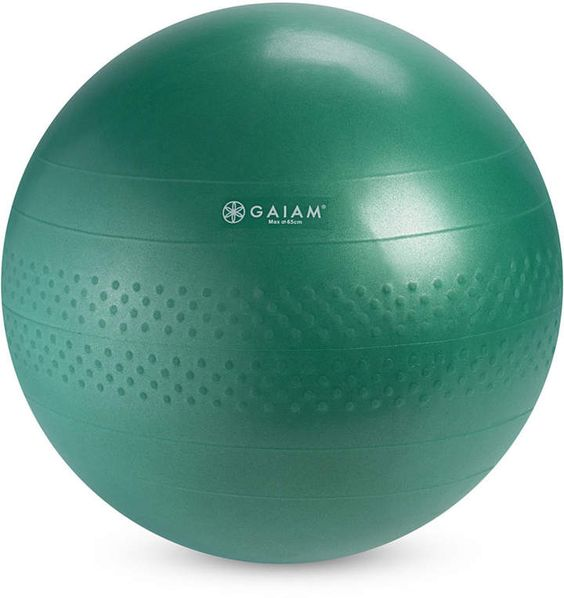 Gaiam Medium Balance Ball Kit. Get started on a great new routine with this medium balance ball from Gaiam. The kit includes everything you need for low-impact yoga, Pilates or resistance training. For more information, click visit. #yogaballs#yoga#ad