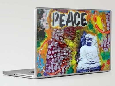 Peace & Zen - Buddha Laptop & iPad Skin by kathleentennant - $30.00
