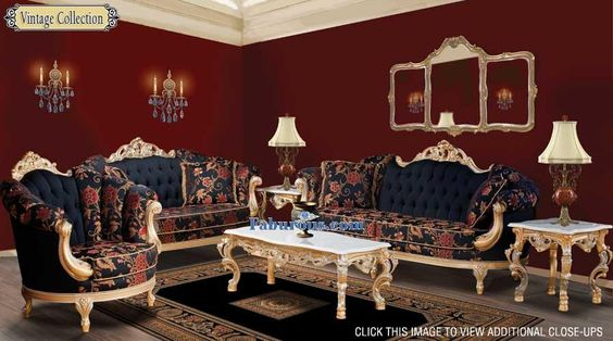 Victorian Style Living Room Furniture | Dark Red French Baroque Victorian  Style Living Room | Chair B | Pinterest Part 61
