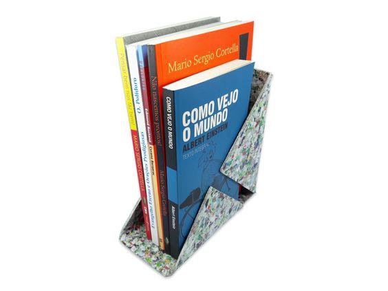 Porta livro em mosaico de cartão - 17 x 17 x 8