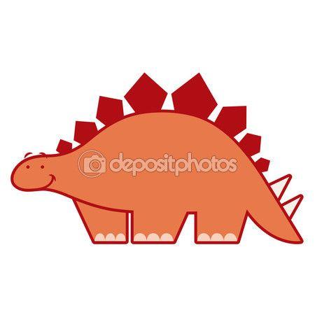 Милый мультфильм динозавр, изолированные на белом фоне