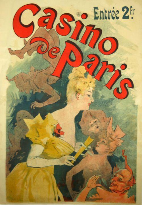 """1980 Vintage /""""LE PAYS DES FEES/"""" JARDIN CHERET MINI POSTER Art Plate Lithograph"""