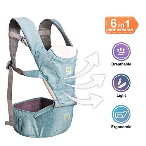 Dewel Mochila Portabeb/és,Fular portabeb/és Transpirable Ergonomicos Portador de Beb/é para Crecimiento de Beb/é 0 a 36 meses