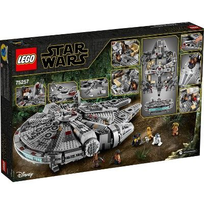 Lego Star Wars The Rise Of Skywalker Millennium Falcon Building Kit Starship Model With Minifigures 75257 Lego Star Wars Lego Star Millennium Falcon