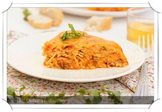 Mi dulce tentación: Spaghetti Pie con Tomate Frito de Temporada Hero
