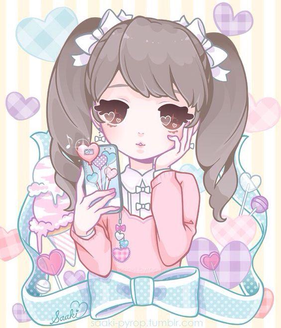 Kawaii Fairy Anime Girl.