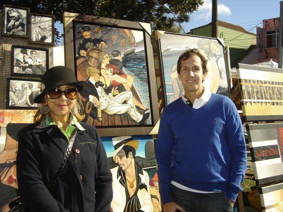 Javier y la Artista. Esta Artista, pinta reproducciónes de Juarez Machado como ninguna!  Es suprema!