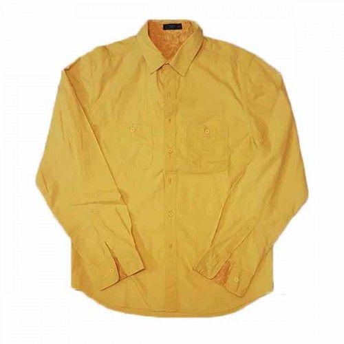 เสื้อเชิ้ตผู้ชาย แขนยาวสีเหลืองแฟชั่นเกาหลีใส่ลุคทำงานอินเทรนด์เท่แมน นำเข้า ไซส์ 2XL - พร้อมส่งMS4258 ราคา350บาท