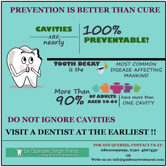 Prevention is better than cure Cavities are preventable Visit a dentist at earliest !! Fill the form for any query https://opthind.wufoo.com/forms/the-ethical-dental-clinic-dr-opinder-singh-thind/