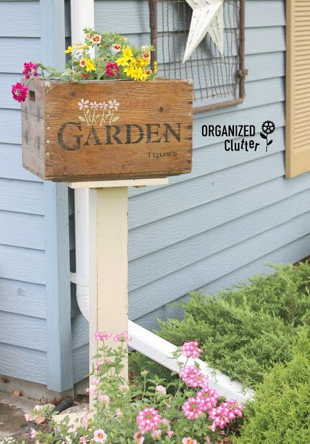 Garden Tour Fifty Shades Of Green: Gardens, Old Signs And Funky Junk On Pinterest