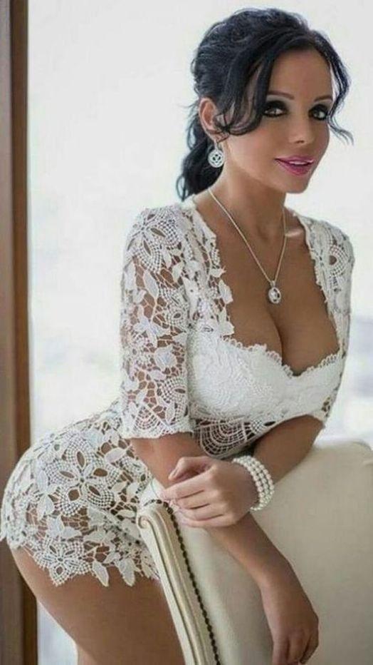 Busty bride in lingerie pics Pin On Busty Women