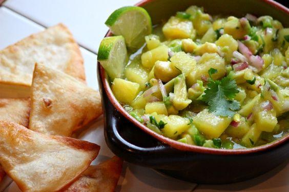 Pineapple Avocado Salsa -  Comfy Cook