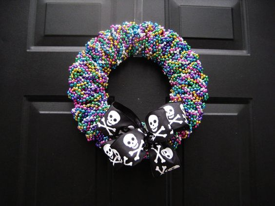 Gasparilla Beaded Wreath