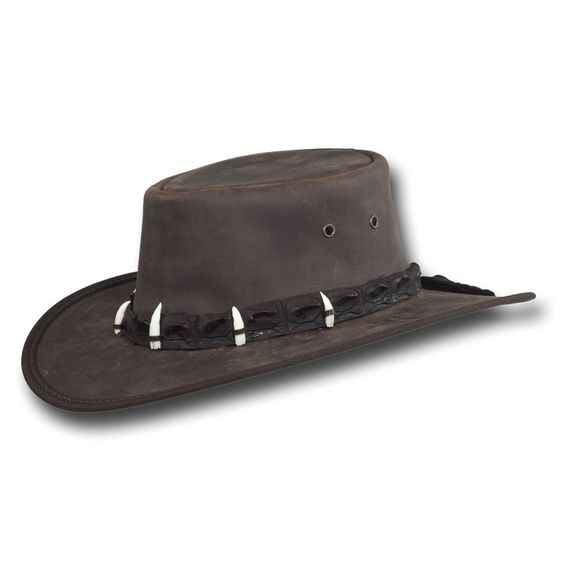 Barmah Hats Outback Crocodile Leather Hat 1033BL / 1033BR at Amazon Men's…