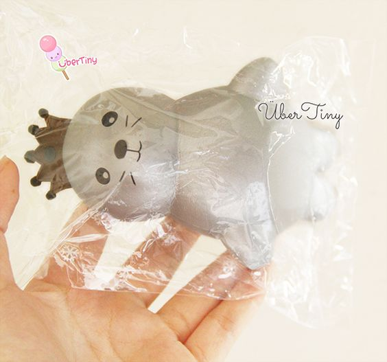 Rare iBloom Queen Seal Jumbo Squishy from Uber Tiny Products, Queen and Silver