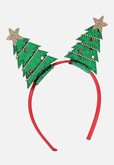 Christmas Tree Headband Justice Christmas Headband Diy Christmas Tree Headband Christmas Headband