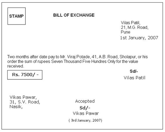 bill of exchange format in word Google Search – Format for a Bill