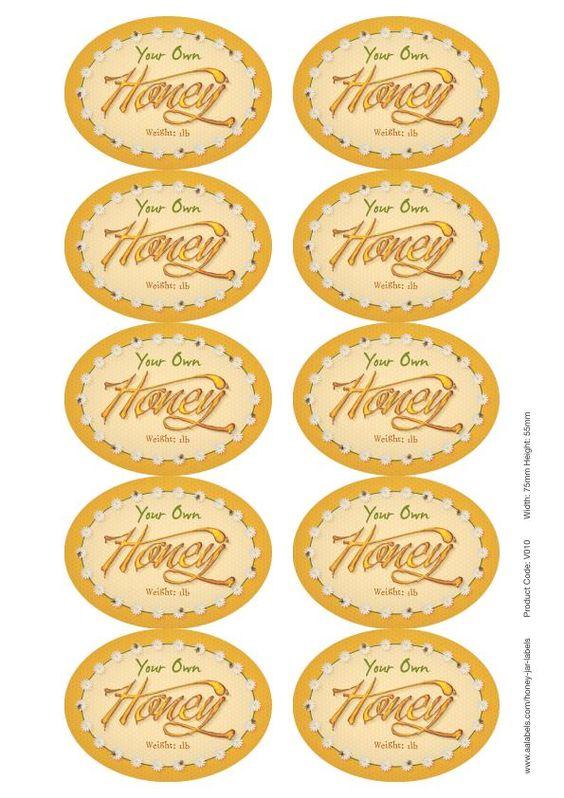 Striking image regarding honey jar labels printable