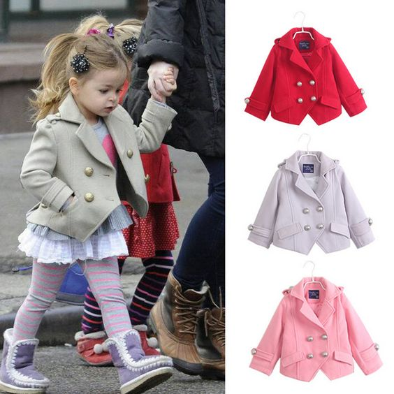 New 2014 Autumn Winter Girl's Fashion jackets Girls Outerwear