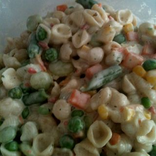 Bacon Ranch Suddenly Salad with Birds Eye Steamers Frozen Mixed Veggies