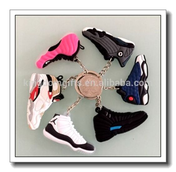 2d air jordan running shoe keychain for all generation