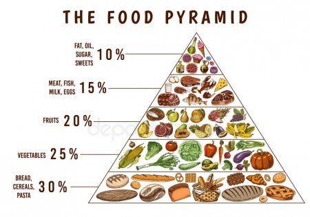 Healthy Food Plan Pyramid Infographics For Balanced Diet Percentage Lifestyle Ad Plan Pyramid Healthy Meal Plans Food Pyramid Kids Vegan Food Pyramid