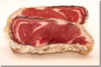 Dry cured ribeye. Will be in my curing chamber next! http://curedmeats.blogspot.com/2012/08/ribeye-roast-bresaola.html