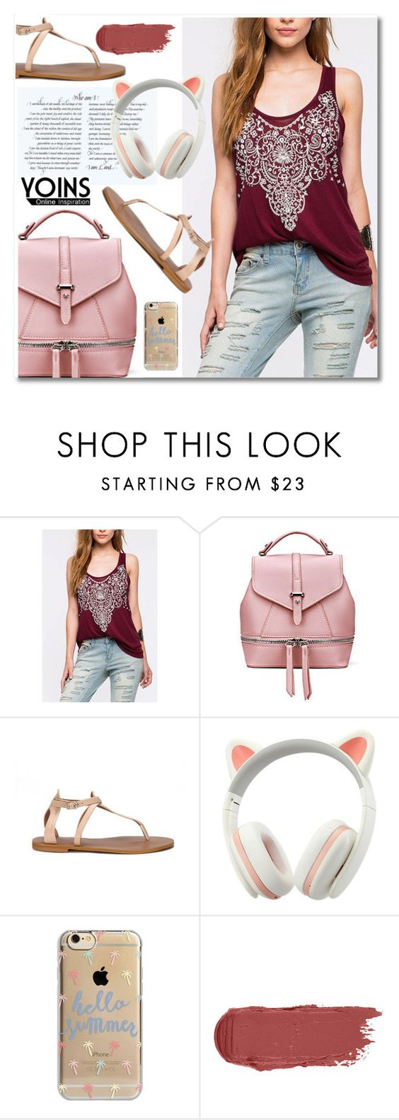 """""""Yoins #11"""" by aida-nurkovic ❤ liked on Polyvore featuring Agent 18, polyvoreeditorial, polyvorefashion, polyvoreset and yoins"""