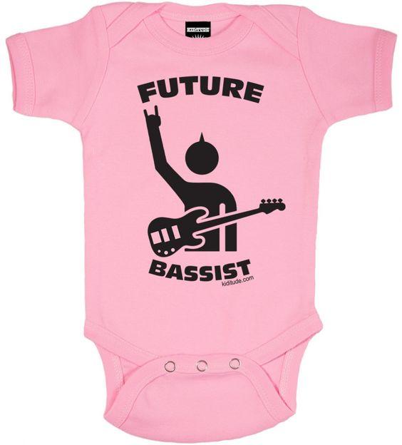 Future Bassist Baby Bodysuit Pink