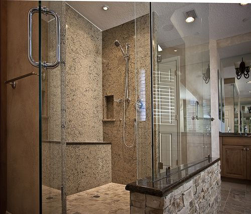 Cambria quartz shower walls bathroom renovation for Bathroom ideas with quartz