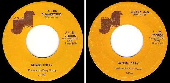 Mungo Jerry / In the Summertime / Janus J-125 / Single / 1970, $3.50