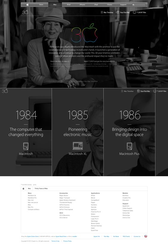 Apple - Thirty Years of Mac - #timeline #carousel #mouseover ...