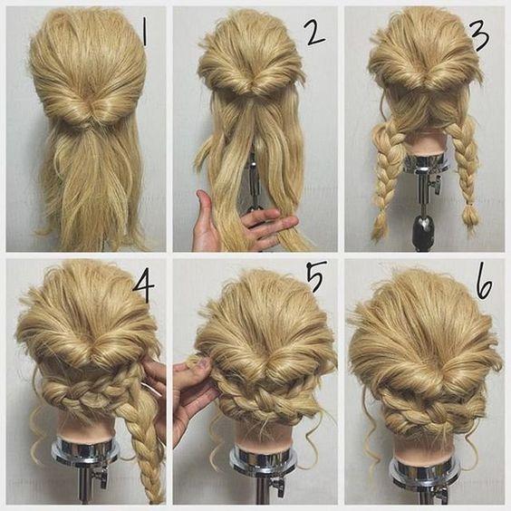 Phenomenal Updo Double Braid And Twists On Pinterest Short Hairstyles Gunalazisus