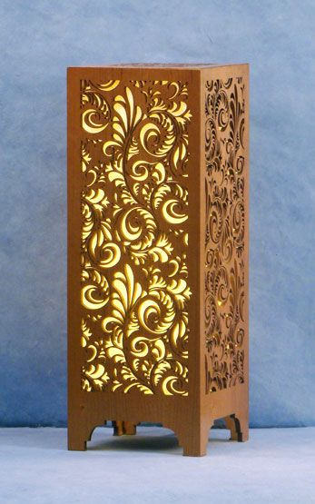Laser Cut Wood Table Lamps And Oriental Style On Pinterest
