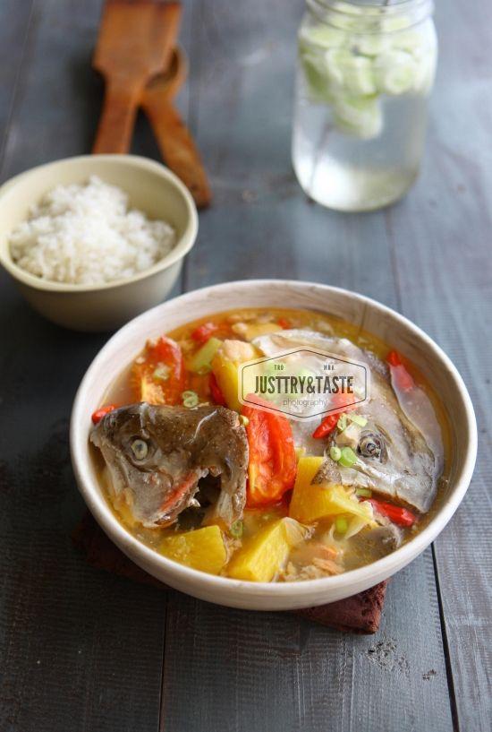 Sup Kapala Salmon Sour And Spicy Salmon Head Soup Resep Sup Resep Ikan Makanan Dan Minuman
