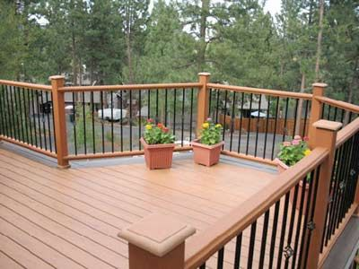 Iron Railings For The Deck Pool Houses House Exterior Outside Living