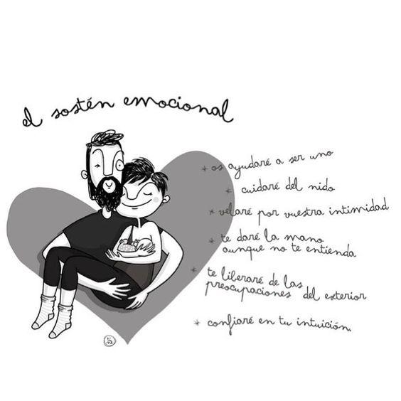 """Para poder atender al bebé y experimentar plenamente la nueva experiencia de ser madre. Para encontrarse con sus partes más animales intuitivas y poder escucharlas sin """"ruido"""" de fondo. Para poder sostener al bebé la madre también necesita ser sostenida. Idealmente el padre pero cualquier otra persona de confianza puede ejercer este papel. Pensemos en ello. Concienciemos a nuestras parejas y dejemos de querer ser """"Supermamis"""". #mammasutra #ilustracion #digital #maternity #maternidad #niños…"""