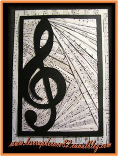 carte Iris Folding musique - Le Scrap de Coco82