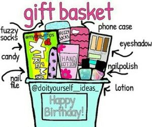 gift basket for ur bff or everyone u want {creds: doityourself_ideas_ on ig}