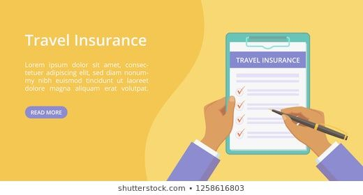 Travel Insurance Policy On Clipboard With Hands Landing Page