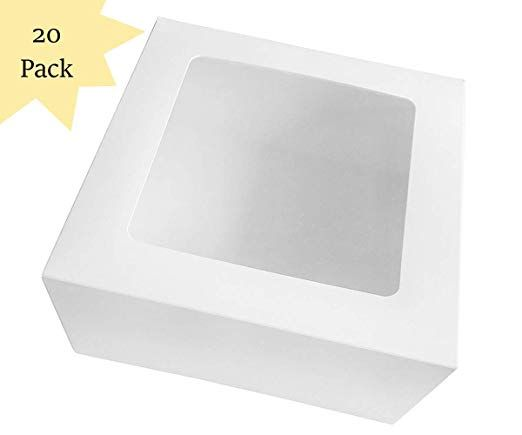 20 Count Sturdy Bakery Cake Boxes 10x10x5 Inch With Window In Bulk Review Box Cake Bakery Cakes Bakery