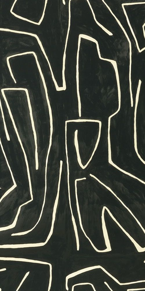 KELLY WEARSTLER   GRAFITTO WALLPAPER. In Onyx/Beige