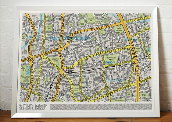 Song Map - Original Open Edition | $33 + S from the UK | I want!