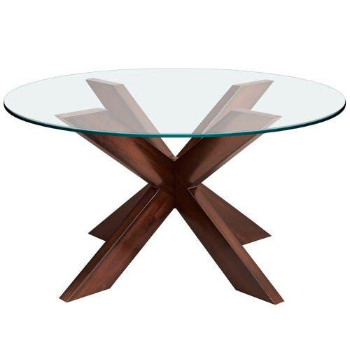 Simon Espresso X Coffee Table Base Glass Table Top Glass Top Table Round Glass Table X Coffee Table