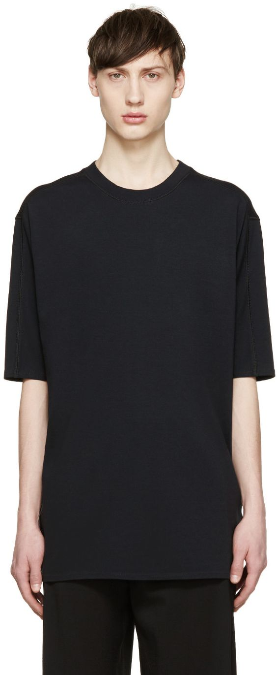 3.1 Phillip Lim - Black Dropped Shoulder T-Shirt