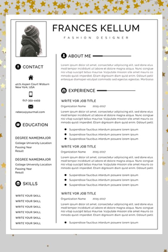 Resume Template Instant Download Professional Resume Etsy In 2020 Resume Template Professional Resume Template Word Modern Resume Template