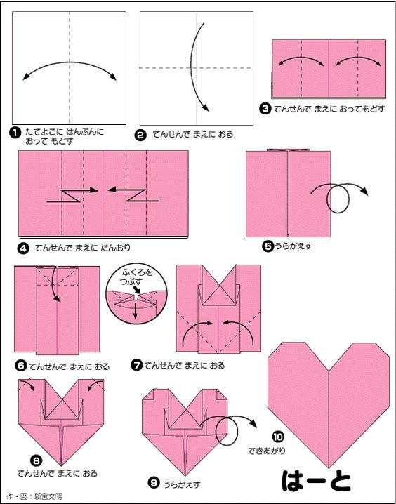 クリスマス 折り紙 折り紙ハートの作り方 : jp.pinterest.com